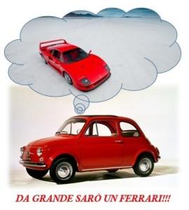 "Informatica e Motori, vignetta ""da grande sarò un Ferrari"""
